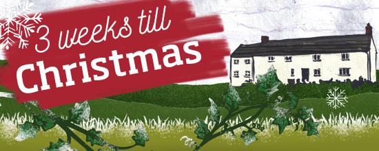 Three weeks till Christmas >