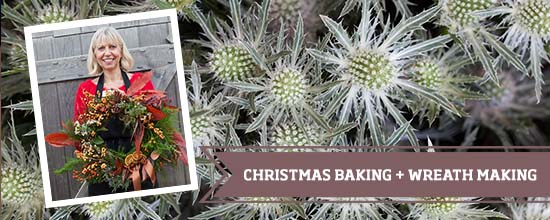 Christmas baking and wreath making >