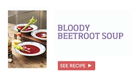 Bloody beetroot soup >