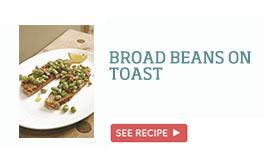 Broad beans on toast >