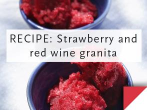 RECIPE:Strawberry & red wine granita >