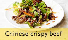 Chinese-style crispy beef >