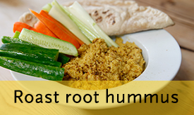 Roast root hummus >