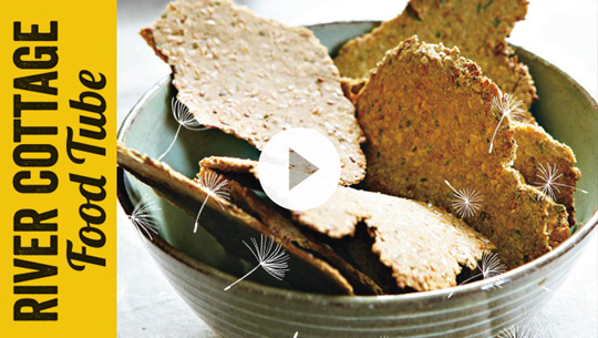 Linseed and Rosemary Crackers | Hugh Fearnley-Whittingstall