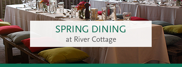 Spring dining at River Cottage HQ >