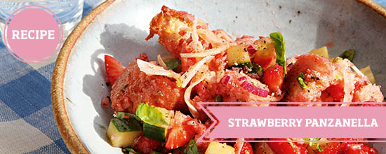 Strawberry panzanella >