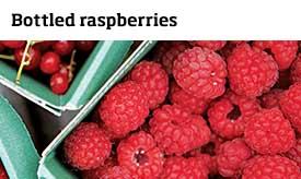 Bottled raspberries >