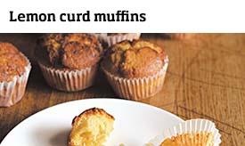 Lemon curd muffins >