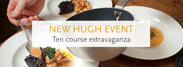 Tenth Anniversary dinner with Hugh