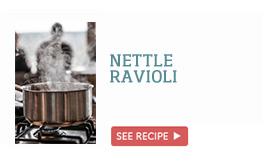 Nettle ravioli >