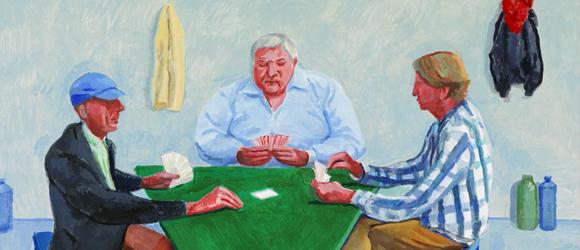 David Hockney, Card Players #1