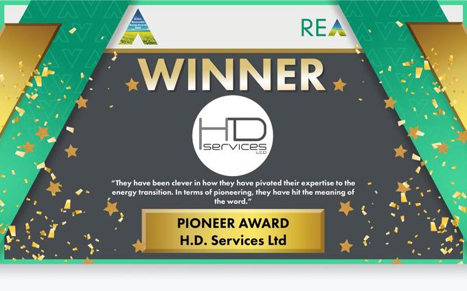 HD Services - WINNER REA Pioneer Award