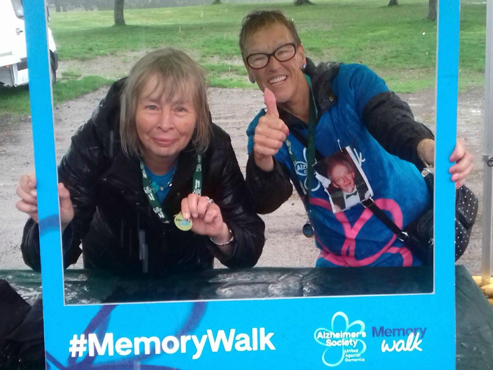 Jeanette at Memory Walk