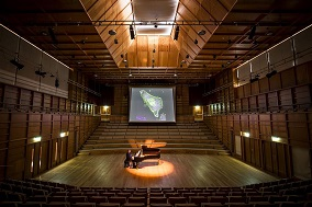 Coyler-Fergusson Music Hall with grand piano in centre