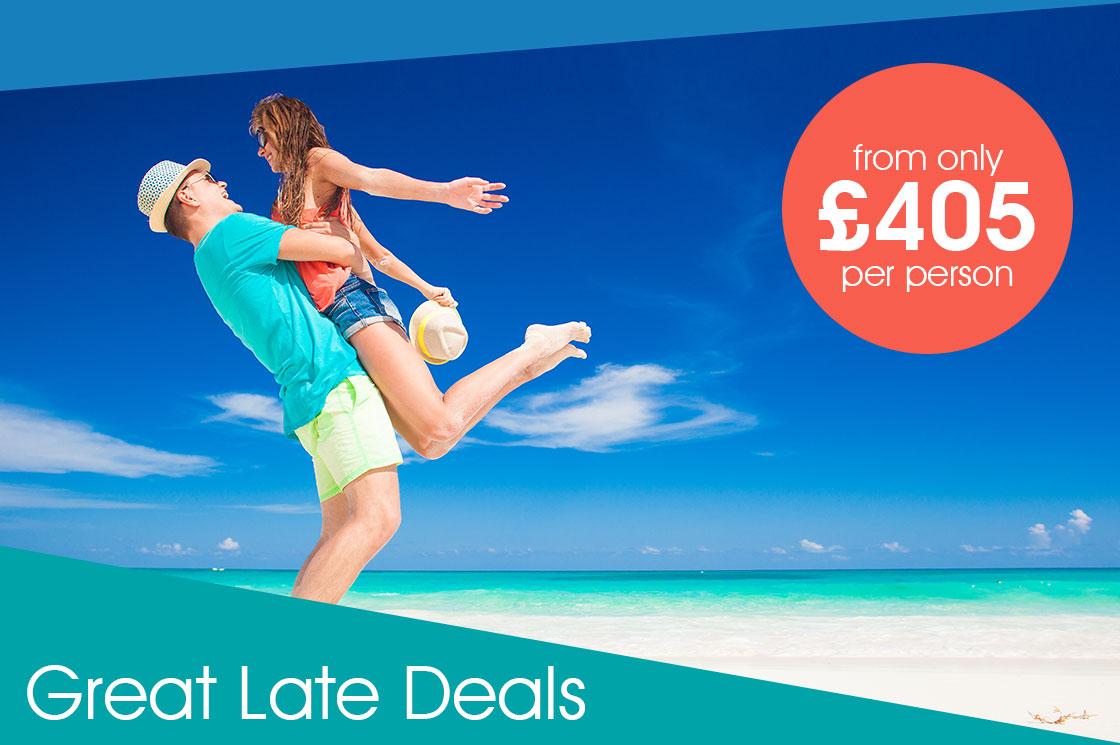 Last minute guaranteed sunshine from £405 per person